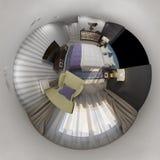 panorama senza cuciture dell'interno 360 di progettazione della rappresentazione 3d Fotografia Stock Libera da Diritti