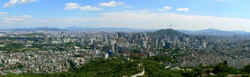 Panorama of Seoul. South Korea Stock Photo