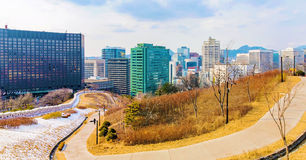 Panorama of Seoul Royalty Free Stock Images