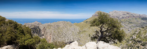 Panorama of the Serra de Tramuntana Royalty Free Stock Images