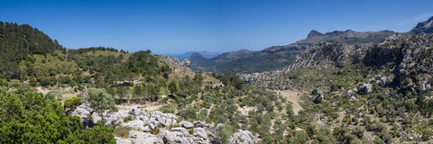 Panorama of the Serra de Tramuntana Stock Images