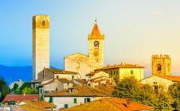 Panorama Serravalle Pistoiese, Toskana, Italien Stockfoto