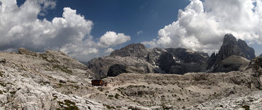 Panorama of the Sesto Dolomites Royalty Free Stock Image