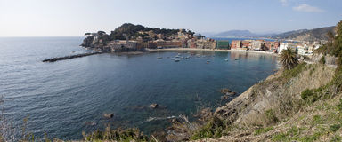 Panorama a Sestri Levante Royalty Free Stock Photos