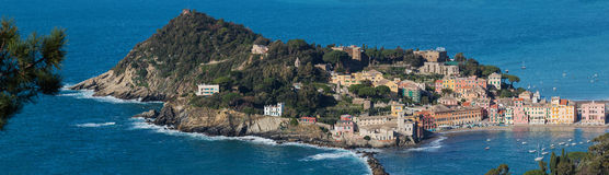 Panorama of Sestri Levante Stock Photo