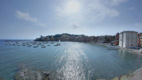 Panorama Sestri Levantes Portobello stock footage