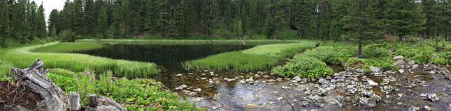 Panorama seven Karakol lakes Stock Image