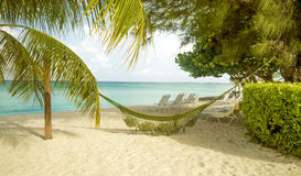 Panorama of Seven Mile Beach on Grand Cayman island. The Caribbeans Royalty Free Stock Photography
