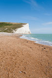Panorama of Seven Sisters cliffs and the sea in Brighton, Sussex Royalty Free Stock Image