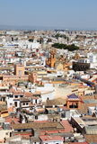 Panorama of Sevilla from the cathedral belltower Stock Image
