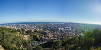 Panorama sferico di Barcellona, Spagna Immagini Stock