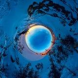 Panorama sferico 360 180 gradi di sciamano del capo sull'isola di Immagini Stock Libere da Diritti