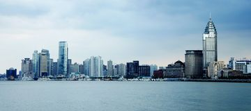 Panorama of Shanghai (the bund) Royalty Free Stock Photos