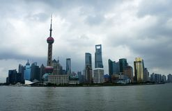 Panorama of Shanghai (the bund) Stock Photo