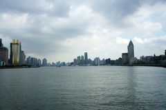 Panorama of Shanghai (the bund) Royalty Free Stock Images