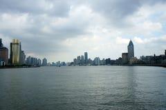 Panorama of Shanghai (the bund) Royalty Free Stock Images