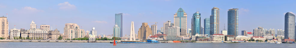 Panorama of Shanghai Bund, China Stock Image