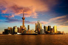Panorama of Shanghai Stock Image