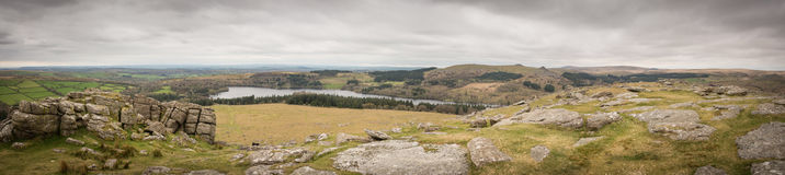 Panorama Sheeps Tor Royalty Free Stock Images