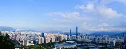 Panorama of shenzhen. China,photo from bijiashan peak Royalty Free Stock Photos