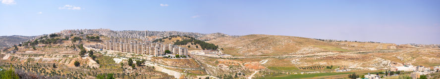 Panorama from Shepherd's Field Bethlehem Royalty Free Stock Photo