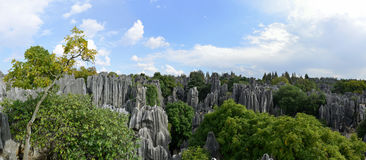 The panorama of Shilin Stone Forest in Kunming, Yunnan, China Stock Photos