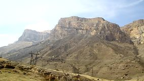 Panorama shooting gorges, cliffs, mountains stock footage