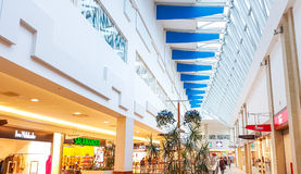 Panorama shopping mall in Vilnius. Panorama shopping mall interior in Vilnius, Lithuania Stock Photo