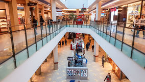 Panorama shopping mall in Vilnius. Panorama shopping mall interior in Vilnius, Lithuania Royalty Free Stock Images