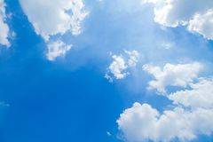 Blue sky and clouds in good weather days. Panorama shot of blue sky and clouds in good weather days stock photo