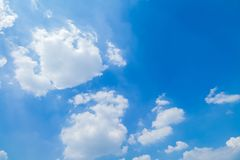 Blue sky and clouds in good weather days. Panorama shot of blue sky and clouds in good weather days royalty free stock photos