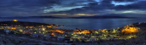 Panorama shot Senj, Croatia. Panorama shot of mediterian town Senj, Croatia Royalty Free Stock Image