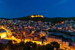 Panorama of the Sibenik from St Michael Fortress Stock Image