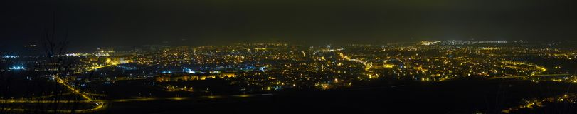 Panorama Sibiu stockbilder