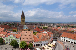 Panorama of Sibiu town Royalty Free Stock Images