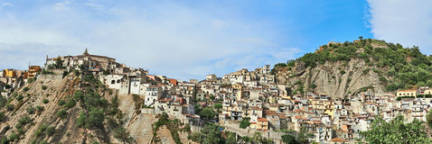 Panorama Sicilian town Stock Photos