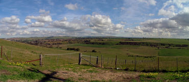 panorama- sida för land Arkivfoton