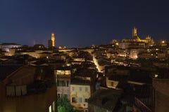 Panorama Siena de la ciudad Fotos de archivo