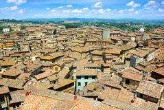 Panorama of Siena, Italy Stock Image
