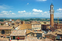Panorama of Siena, Italy stock image