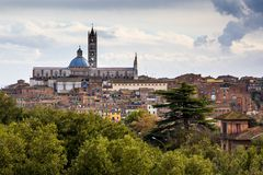 Panorama of Siena, Italy Stock Images
