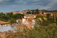 Panorama of Siena, Italy Royalty Free Stock Photos