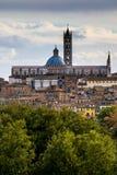 Panorama of Siena, Italy Royalty Free Stock Photos