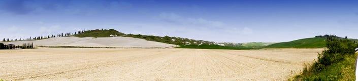 Panorama-Siena-Land Lizenzfreies Stockbild