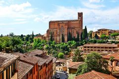 Panorama of Siena, Tuscany, Italy Royalty Free Stock Photo