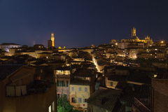 Panorama Sienne de ville Photos stock