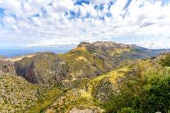Panorama in the Sierra de Tramuntana royalty free stock photo