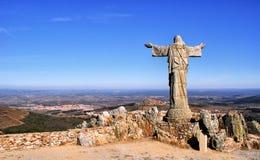 Panorama sierra Marofa w Figueira De Castelo Rodrigo Zdjęcia Royalty Free