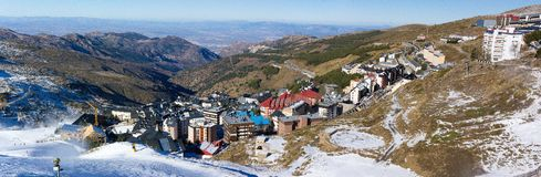 Panorama of the Sierra Nevada Cyti Royalty Free Stock Images