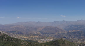 Panorama of  Sierra Nevada. A mountain range in the region of An Royalty Free Stock Photo